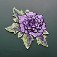 Best Polyester Embroidered Floral Appliques For Jackets 11 CM X 9 CM Multi Color Available wholesale