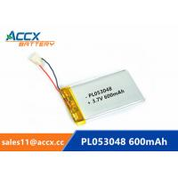 Best 053048pl 503048 3.7v lithium polymer battery with 600mAh rechargeable li-ion battery for GPS, bluetooth speaker wholesale