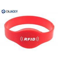 China Reusable Silicone NFC RFID Wristband Waterproof , RFID Bracelet For Events / Swimming Pool / SPA Hotel on sale