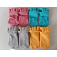 Best Cotton and Polyester Materials Unisex Foot Alignment Socks, Comfy Toe Socks wholesale