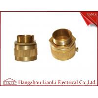 Best 20mm 25mm Brass Flexible Conduit Adaptor With Screw Nickle Plated , ISO9001 listed wholesale