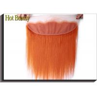 Best Soft Orange Human Hair Lace Closure 4 * 13 Inch No Chemical Full Cuticle Aligned wholesale