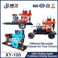 Best XY-100 Rotary Hydraulic Water Well Drilling Rig Machine, borehole drilling rig mud pump wholesale