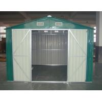 Cheap 10x10 ft large apex diy metal shed with double swing for 10x10 overhead door
