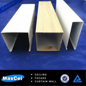 Cheap 2014 Popular Aluminum False Baffle Ceiling/False Ceiling Designs/Wood Laminate for sale