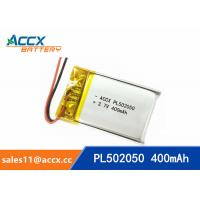 Best 502050 pl502050 3.7v 400mah lithium polymer battery rechargeable flat polymer battery wholesale
