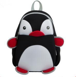 Best Black Pretty Toddler Book Bag Reduced Pressure Shoulder Straps Penguin Design wholesale