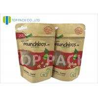 Best Customized Stand Up Food Pouches For Nuts , Clear Window Kraft Paper Pouches wholesale