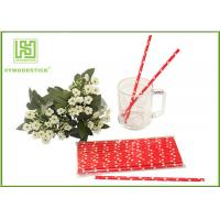 Best Cute Design Red And White Party Paper Straws For Hot Drinking Diameter 6mm wholesale