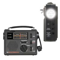 Best solar dynamo radio with cell phone charger and flash light wholesale