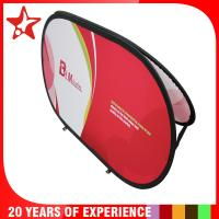 Best Oval Popup A Frame Banners Dye Sublimation Different Graphic Printing On Double Sides wholesale