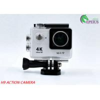 "Best 170D Lens Waterproof Action Camera H9 WiFi 4K 2""LCD High Speed Sport Camcorder wholesale"