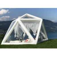 Best Portable Large Clear Bubble House Inflatable Triangle Transparent PVC Inflatable Camping Tent wholesale