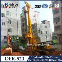 Best 20m Hydraulic Pile Driver DFR-520 Mounted on Crawler wholesale