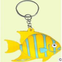 Best custom fish shape  key chain with ring wholesale