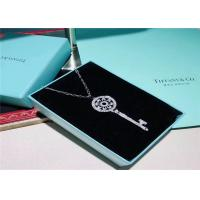 Best Large Size 18K Gold Tiffany And Co Key Pendant Necklace With Pave Diamonds wholesale