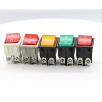 China Dpst On Off Neon Lamp KCD Rocker Switch , 120V Double Throw KCD4 Rocker Switch on sale