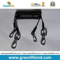 Buy cheap Flexi Tool Safety Coiled lanyard w/Stainless Steel Snap Hooks on each end for from wholesalers
