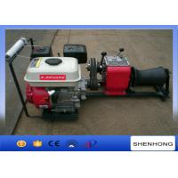 Best Wire Rope Pulling Portable Gas Powered Winch 1 Ton With Gasoline Engine wholesale