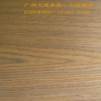 China 2X8' size 0.65mm finwood recon veneer EV dyed red teak 2# on sale