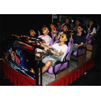 Hydraulic 7D Cinema System , 9 Individual Motion Chair with Special Effects Machine