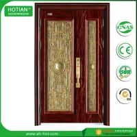Best wrought iron latest main gate designs building construction metal safety door design with grill wholesale