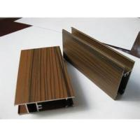 Quality Wooden Grain Color Aluminum Door Profile for Slid Hung Door with Punching GB/T 5237 wholesale