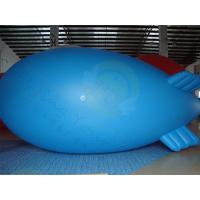 Cheap Durable Advertising Helium Zeppelin , Blue Waterproof Inflatable Blimps for sale