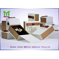 Best Luxury Gift Ring and Necklace jewellery Packaging Box  With Ribbon wholesale