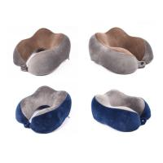 Best Airplane Travel Kit Gel Memory Foam Bamboo Neck Pillow With Ergonomic Design wholesale