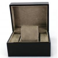 Best Piano Paint Matte MDF Wooden Jewelry Box Grey Interior With Removable Cushions wholesale