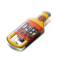 Cheap 3D Surface Bottle Shaped Metal  Bottle Opener With Epoxy Resin Cover Eco Friendly for sale