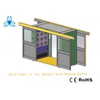 Cargo CleanRoom Air Shower With Width 1600mm Automatic Double - Leaf Sliding Doors