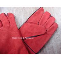 "Best High quality 14"" Red color Cow Split Welding Gloves/Safety Gloves / Working Gloves wholesale"