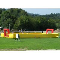 Best Waterproof Giant Inflatable Soccer Game , Blow Up Football Game Highly Safe Air Flap wholesale