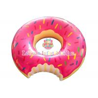 Best Commercial Use Inflatable Pool Floats Pink Chocolate Donuts Floating Ring wholesale