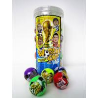 Best The Word Cup Theme healthy hard candy / 6g multi fruit flavor football shape hard candy in jars wholesale