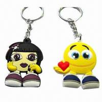 Best Promotional customized soft PVC 3D keychains, available in various colors wholesale