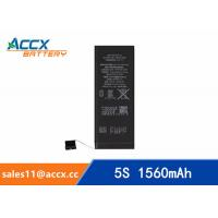 Cheap ACCX brand new high quality li-polymer internal mobile phone battery for IPhone 5S with high capacity of 1560mAh 3.8V for sale