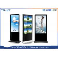 Quality FHD large touch screen Stand Alone Digital Signage kiosk on wheels , ad lcd media display wholesale