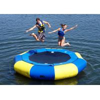 Best Kids And Adults PVC Inflatable Water Toys Floating Trampoline OEM / ODM Accepted wholesale