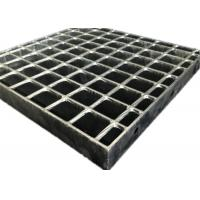 Best Durable Hot Dipped Galvanized Grating , Railroad Heavy Duty Steel Grating wholesale