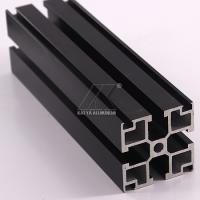 Best Black Anodized Aluminium Alloy Profile 40x40mm 6000 7000 Series 5.8-5.98m Length wholesale