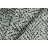 Best Soft Zia Zag Woolen Blended Knitted Sheep Shearling Fabric For Women
