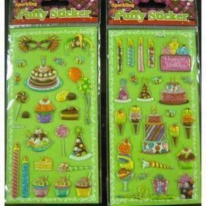 Best Sparkling puffy stickers, metallic wholesale