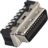 Best 1.27mm Computer Pin Connectors Male DIP SCSI Connector LCP 30%GF UL94V-0 Gold Flash/Sn wholesale