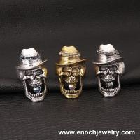 Best xquisite Gothic Punk Style Hat Skull Ring For Holloween wholesale