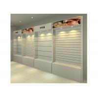 Best MDF Glossy White Wall Mounted Display Cabinets Freestanding With Light Box wholesale