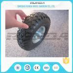 Best Staright Valve Pneumatic Rubber Wheels , Pneumatic Caster Wheels 3.50-6 Steel Rim wholesale
