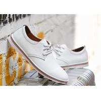 Best Fashion Cowhide Leather Lace Up Shoes , Comfortable Business Casual Shoes Men wholesale